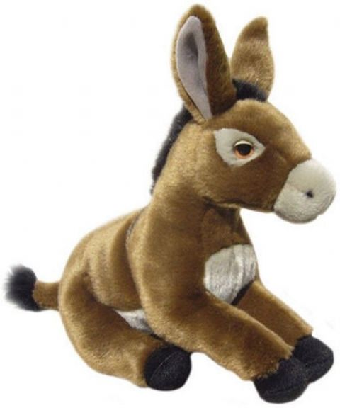 "Brown Donkey quality realistic 12"" soft Toy Donkey"